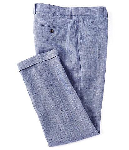 Murano Alex Slim-Fit Solid Baird McNutt Linen Suit Separates Pants