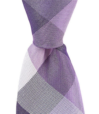 Murano Big & Tall Fein Check Traditional 3 1/8#double; Silk Tie