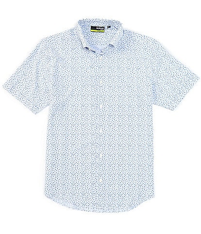 Murano Big & Tall Floral Print White Stretch Short-Sleeve Woven Shirt
