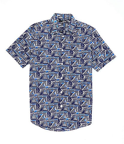 Murano Big & Tall Geo Print Short-Sleeve Woven Shirt