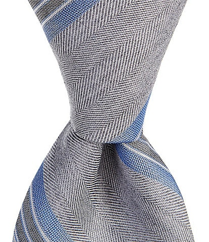 Murano Big & Tall Hester Stripe Traditional 3 1/8#double; Tie