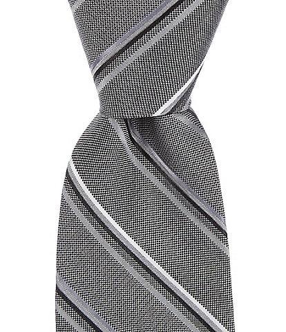 Murano Big & Tall Pearson Stripe Traditional 3 1/8#double; Silk Tie