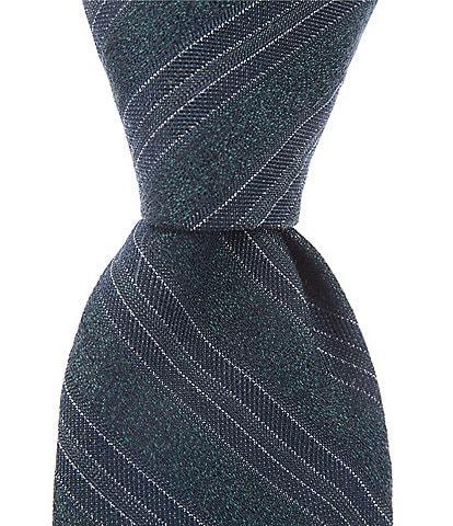 Murano Big & Tall Triple Bar Stripe Narrow 3 1/8#double; Silk Tie