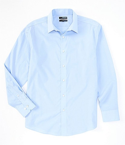 Murano Big & Tall Wardrobe Essentials Solid Long-Sleeve Woven Shirt