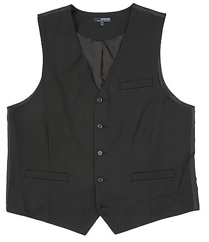 Murano Big & Tall Wardrobe Essentials Suit Separates Twill Vest
