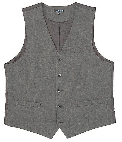 Murano Big & Tall Wardrobe Essentials Suit Separates Twill Vest