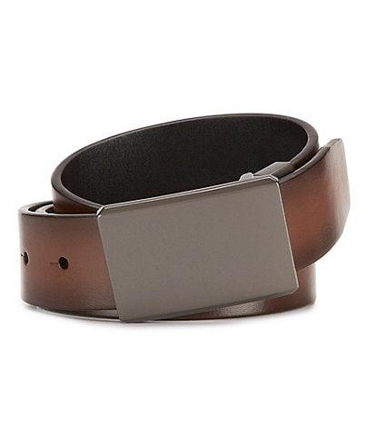 Murano Bronze Plaque Reversible Leather Belt