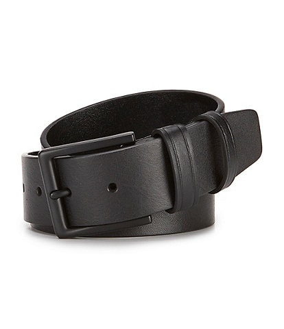 Murano Casual Black Leather Belt