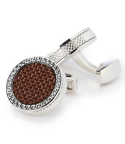 Murano Coffee Carbon Cuff Links