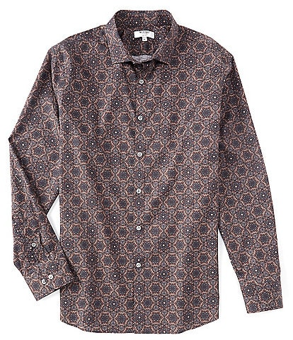 Murano Collezione Slim-Fit Medallion Print Long-Sleeve Woven Shirt
