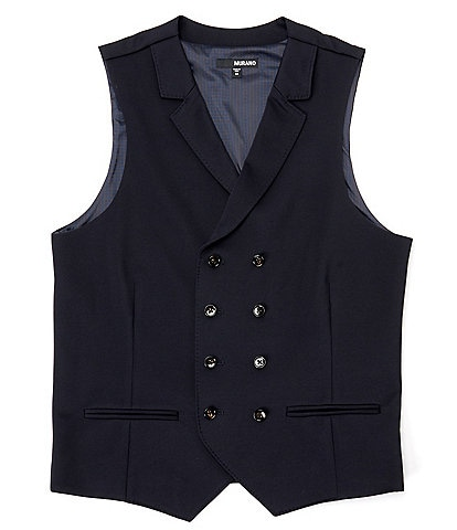Murano Double-Breasted Suit Separates Knit Vest
