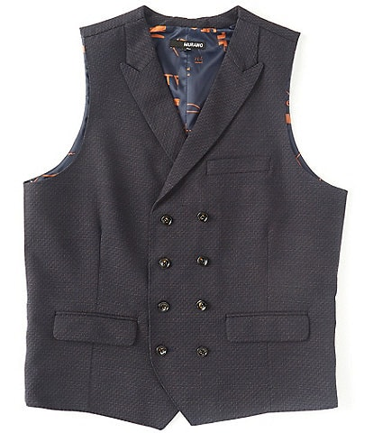 Murano Double-Breasted Suit Separates Vest
