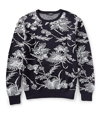 Murano Floral Crew Jacquard Sweater