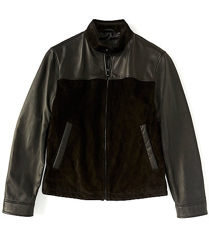 Murano Genuine Lambskin & Suede Mixed Media Hipster Jacket