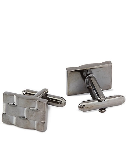 Murano Gunmetal Link Cuff Links