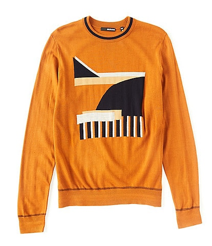 Murano Jacquard Crew Long-Sleeve Sweater