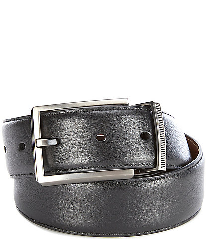 Murano Lines Reversible Leather Belt