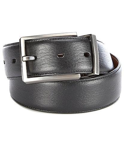 Murano Lines Reversible Leather Belt