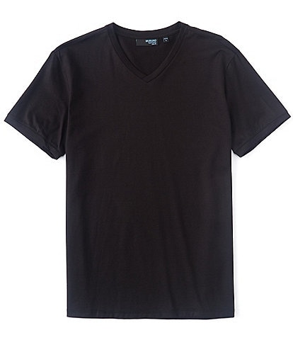 Murano Liquid Luxury Slim-Fit Short-Sleeve V-Neck Tee