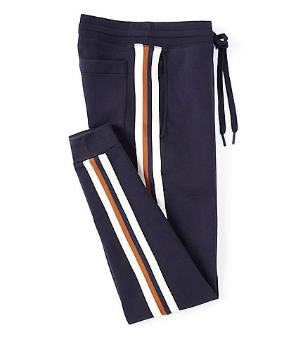 Murano Liquid Luxury Solid Stripe Accent Knit Jogger Pants