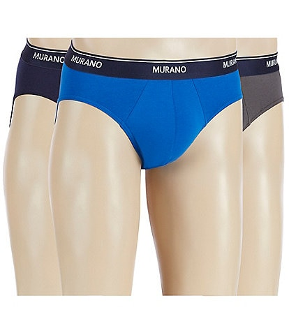 Murano Low Rise Cotton Blend Comfort Stretch Briefs 3-Pack