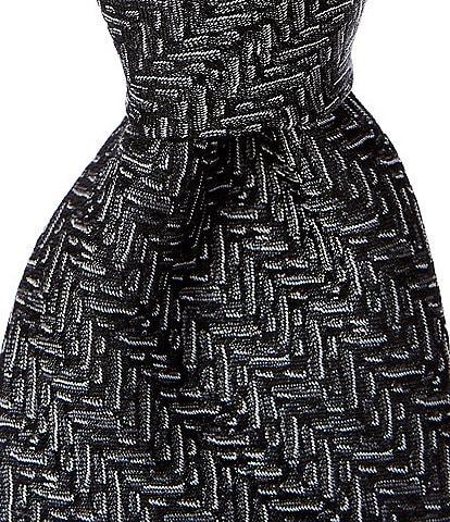 Murano Medina Herringbone Narrow 2 3/4#double; Silk Tie