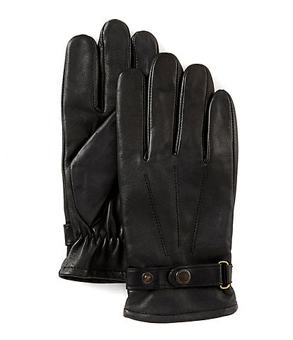 Murano Men's Buckle Leather Gloves