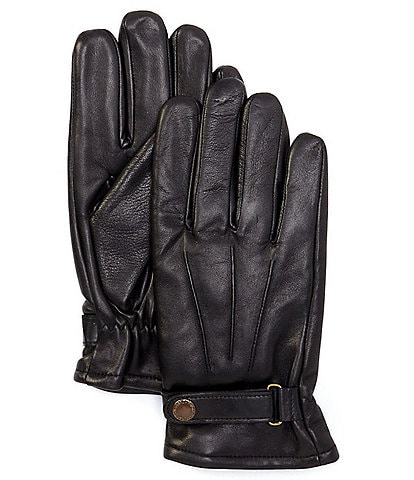 Murano Men's Leather Glove With Buckle