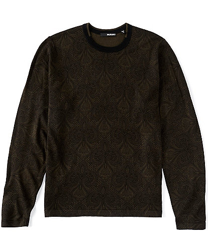 Murano Printed Paisley Long-Sleeve Sweater