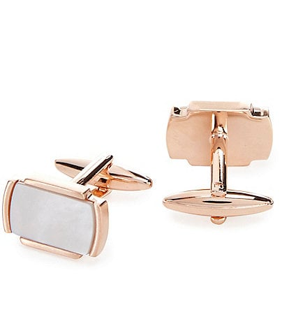 Murano Rose Gold Mother-of-Pearl Cuff Links