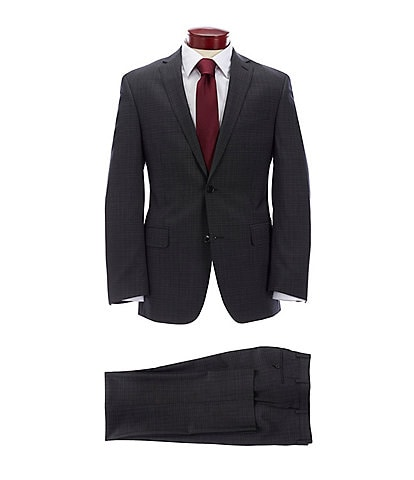 Murano Slim Fit Black Fancy Wool Suit