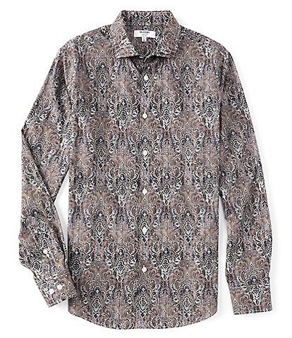 Murano Collezione Slim-Fit Carnival Floral Print Long-Sleeve Woven Shirt