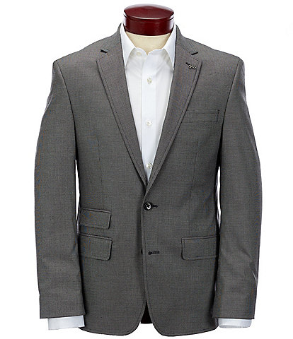 Murano Slim-Fit Dobby Stretch Suit Separates Blazer