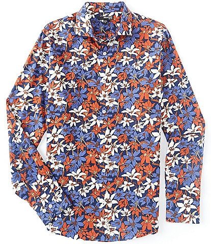 Murano Slim-Fit Floral Multi-Color Long-Sleeve Woven Shirt