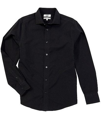 Murano Slim-Fit Non-Iron Italian Solid Long-Sleeve Point Collar Woven Shirt