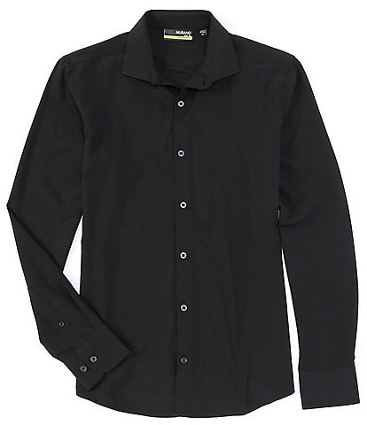 Murano Slim-Fit Solid Performance Stretch Long-Sleeve Woven Shirt