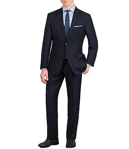 Murano Slim-Fit Solid Single-Breasted Wool Suit