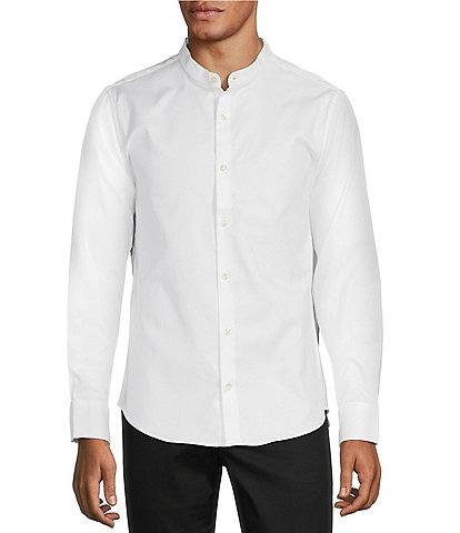 Murano Wardrobe Essentials Slim-Fit Textured Long-Sleeve Woven Shirt