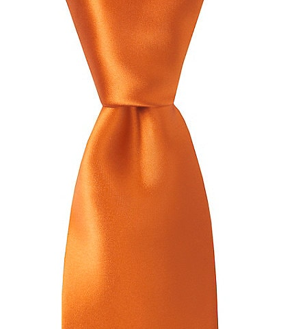 Murano Solid Narrow 3 1/8#double; Silk Tie