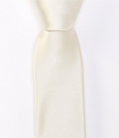 Murano Solid Skinny 2 1/4#double; Silk Tie