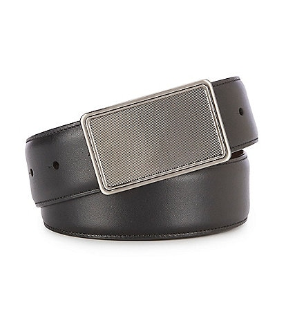 Murano Stripe Plaque Reversible Leather Belt