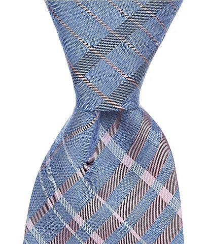 Murano Trumbell Plaid Traditional 3 1/8#double; Silk Tie