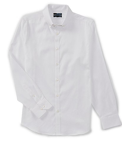Murano Wardrobe Essentials Big & Tall Solid Twill Long-Sleeve Woven Shirt