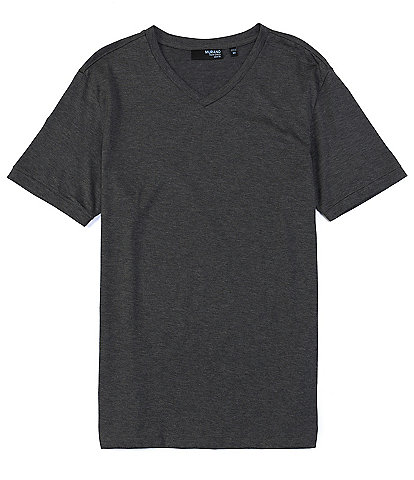 Murano Wardrobe Essentials Liquid Luxury Slim-Fit Short-Sleeve V-Neck Tee