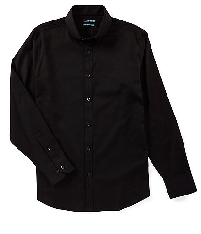 Murano Wardrobe Essentials Slim-Fit Solid Twill Long-Sleeve Woven Shirt