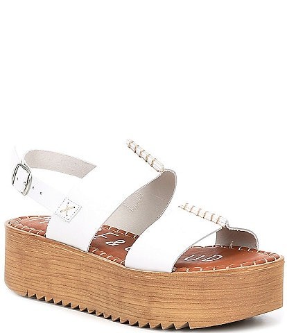Musse & Cloud Kila Leather Platform Banded Sandals