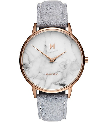 MVMT Boulevard Collection Beverly Marble Dial Quartz Analog Watch
