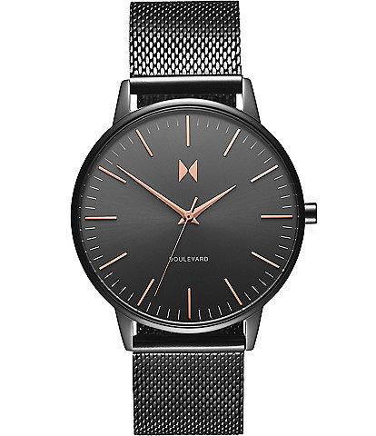 MVMT Boulevard Collection Lincoln Mesh Quartz Analog Bracelet Watch