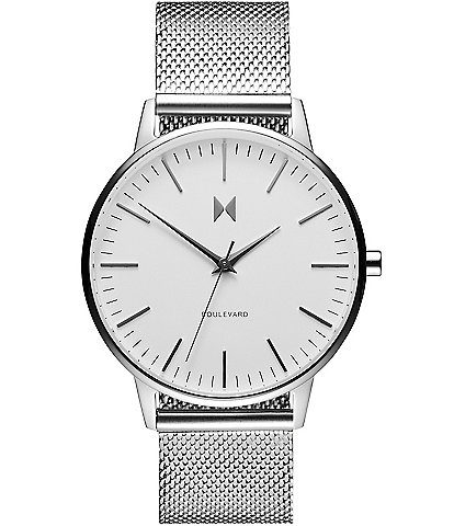 MVMT Boulevard Collection Venice Mesh Quartz Analog Bracelet Watch