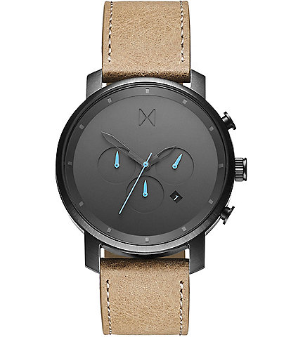 MVMT Chrono Sandstone Leather Watch